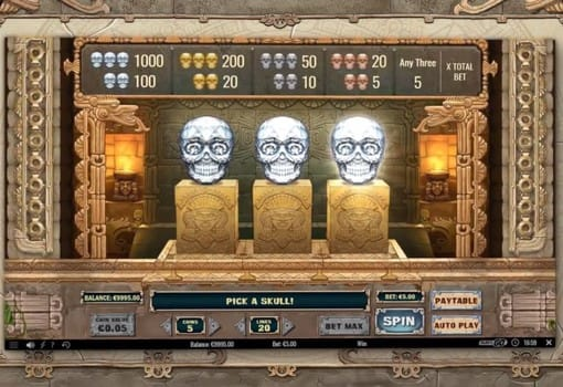 Бонусная игра в аппарате Aztec Warrior Princess
