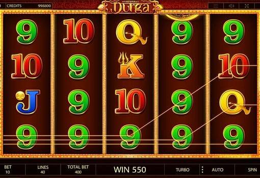 Выигрышная комбинация символов в автомате Durga