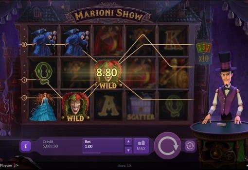 Дикие знаки автомата Marioni Show