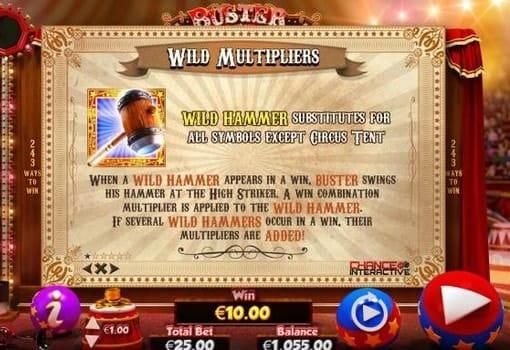 Игровой автомат Buster Hammer на реальные деньги с выводом