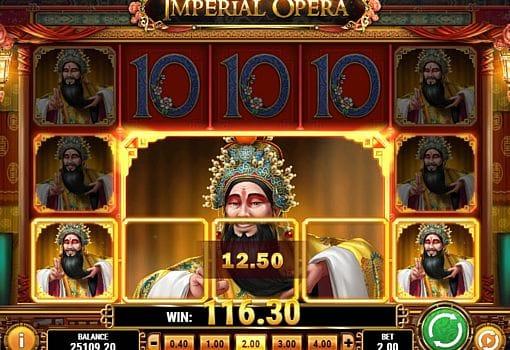 Призовая комбинация символов в игровом автомате Imperial Opera