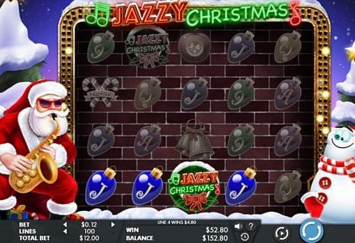 Призовая комбинация символов в игровом автомате Jazzy Christmas