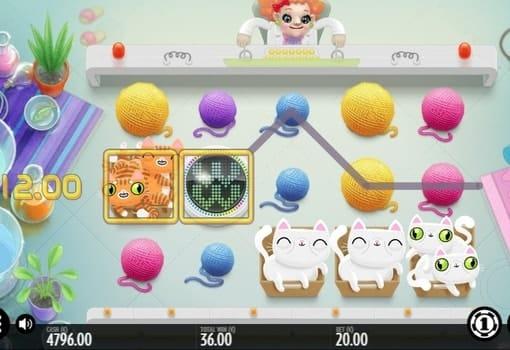 Призовая комбинация на линии в игровом автомате Not Enough Kittens
