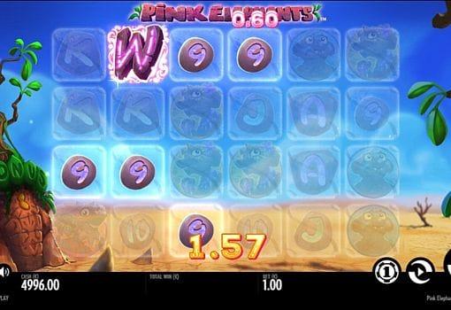 Призовая комбинация символов Pink Elephants в игровом автомате