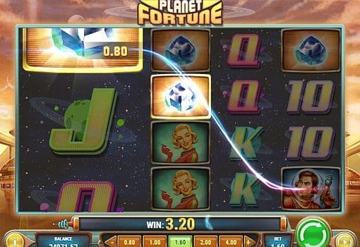 Призовая комбинация в игровом автомате Planet Fortune
