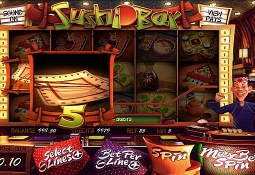 Призовая комбинация на линии в игровом автомате Sushi Bar