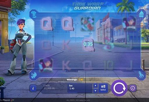 Призовая комбинация на линии в игровом автомате Time Warp Guardian