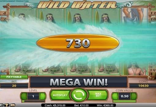 Крупный денежный приз в игровом автомате Wild Water