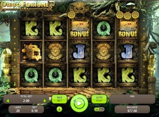 Бонусные символы в игровом автомате Diego Fortune