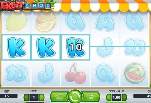 Выигрышная комбинация в игровом автомате Fruit Shop