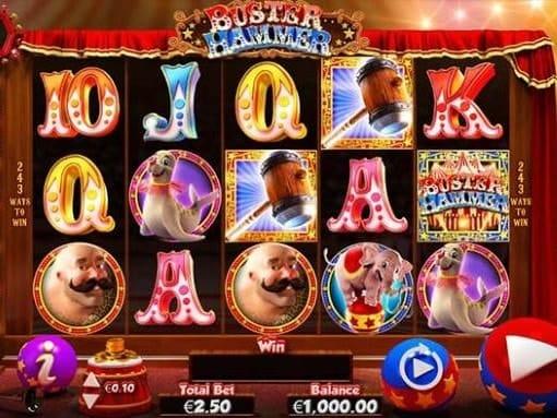 Игровые автоматы на реальные деньги с выводом - Buster Hammer