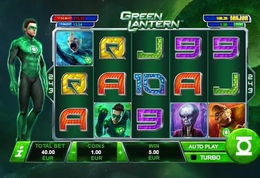 Игровые автоматы с реальным выводом денег - Green Lantern