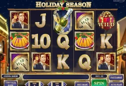 Игровые автоматы с реальным выводом денег - Holiday Season