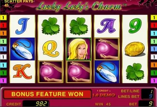 Игровые автоматы с выводом денег Lucky Lady's Charm
