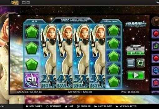 Игровые автоматы с выводом денег на Киви - Star Quest