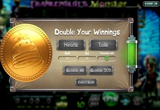 Риск игра в онлайн аппарате Frankenslot's Monster