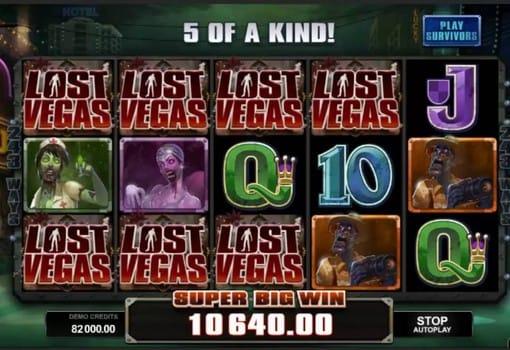 Выпадение крупного выигрыша в онлайн автомате Lost Vegas
