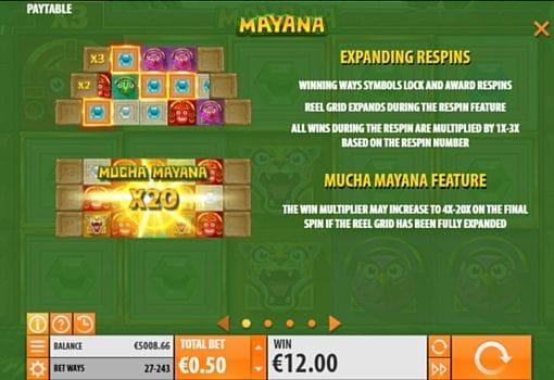 Правила респинов в онлайн слоте Mayana
