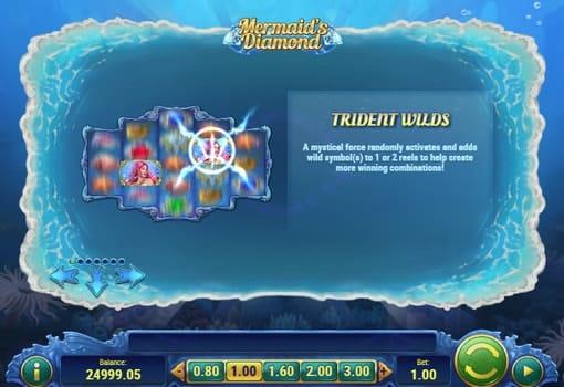 Описание диких символов в онлайн слоте Mermaids Diamond