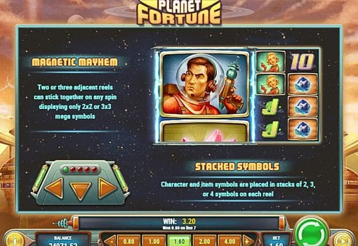 Игровой бонус в онлайн слоте Planet Fortune