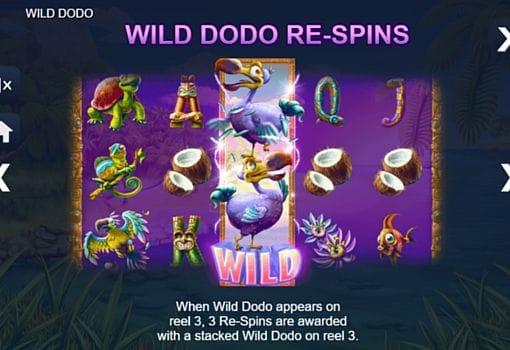 Описание знака Wild в онлайн слоте Wild Dodo