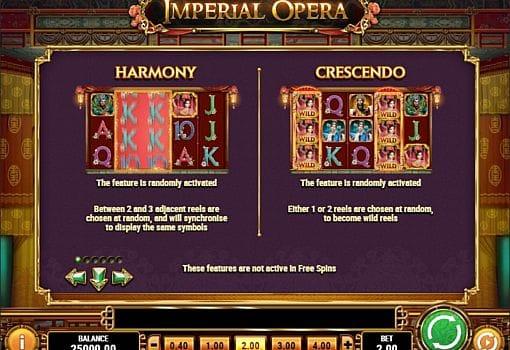 Игровые бонусы в слоте Imperial Opera