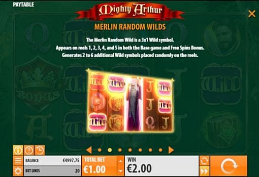 Описание Wild в слоте Mighty Arthur