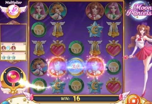 Выпадение выигрышной комбинации в слоте Moon Princess