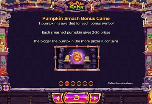 Бонусная игра в слоте Pumpkin Smash